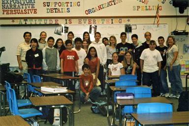 海外研修 サンフランシスコ郊外の学校にて 学院長が特別講義をしました